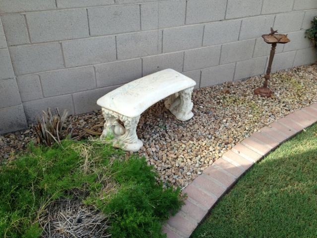 Bench near the Bird Feeder in Carol's Yard