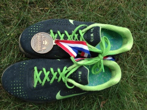 """The shoes that took the steps toward being healthy.   """"Do with heart.""""  My mantra then and my mantra now."""