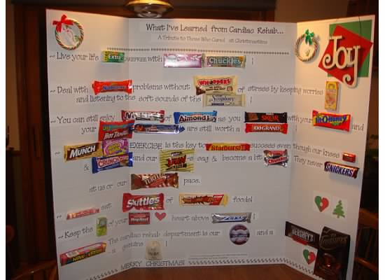 Candy Bar Card for Cardiac Rehab