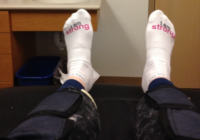 I AM STRONG socks!