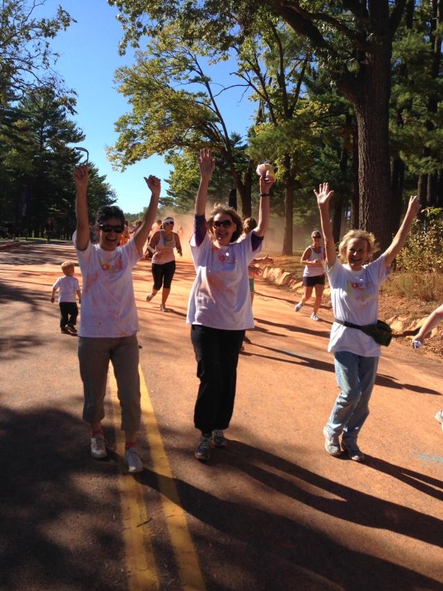 Team Sprinkles - heading through the orange.