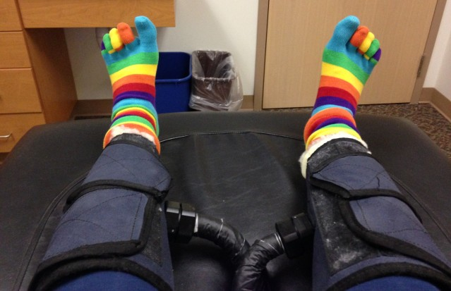 "Toe Socks in Primary Colors - I feel like I am in grade school again!"""